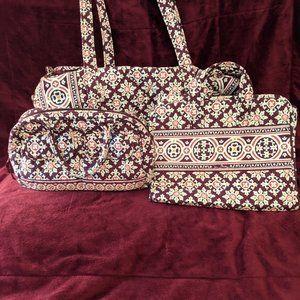 Vera Bradley Weekender & Toiletry Bag & Purse
